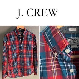 J Crew Mens Extra Small Casual Woven Plaid Shirt